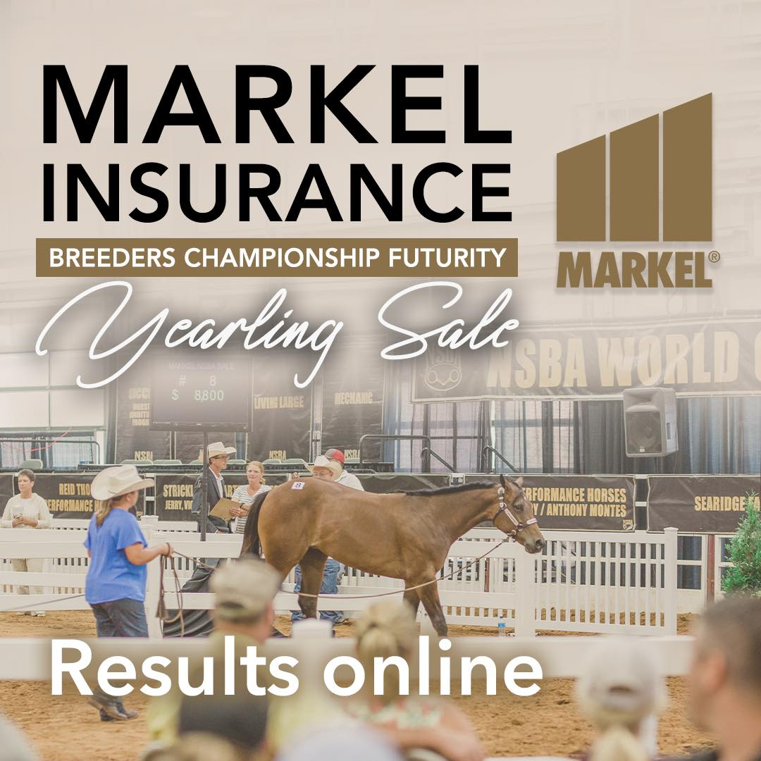 BCF Yearling Sale Results logo with yearling in middle sale ring.